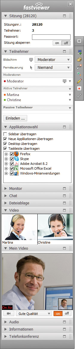 Screenshot vom Programm: FastViewer